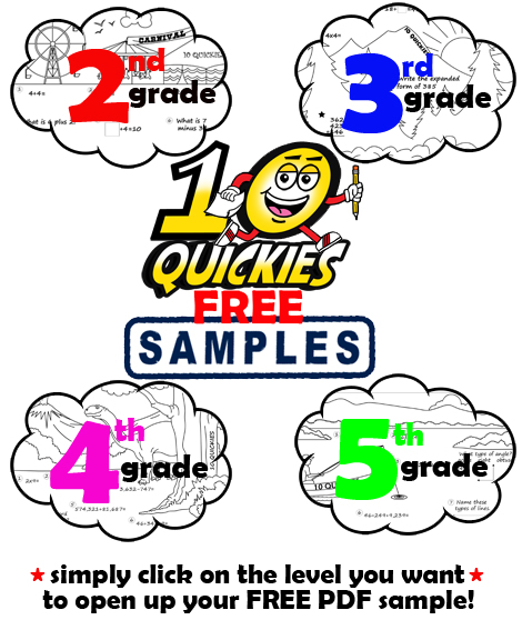 math worksheet : four free math review worksheets for 2nd 3rd 4th  5th grade  : Sign Up Math Worksheet